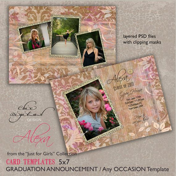 Hey, I found this really awesome Etsy listing at https://www.etsy.com/listing/73631613/graduation-announcement-card-template