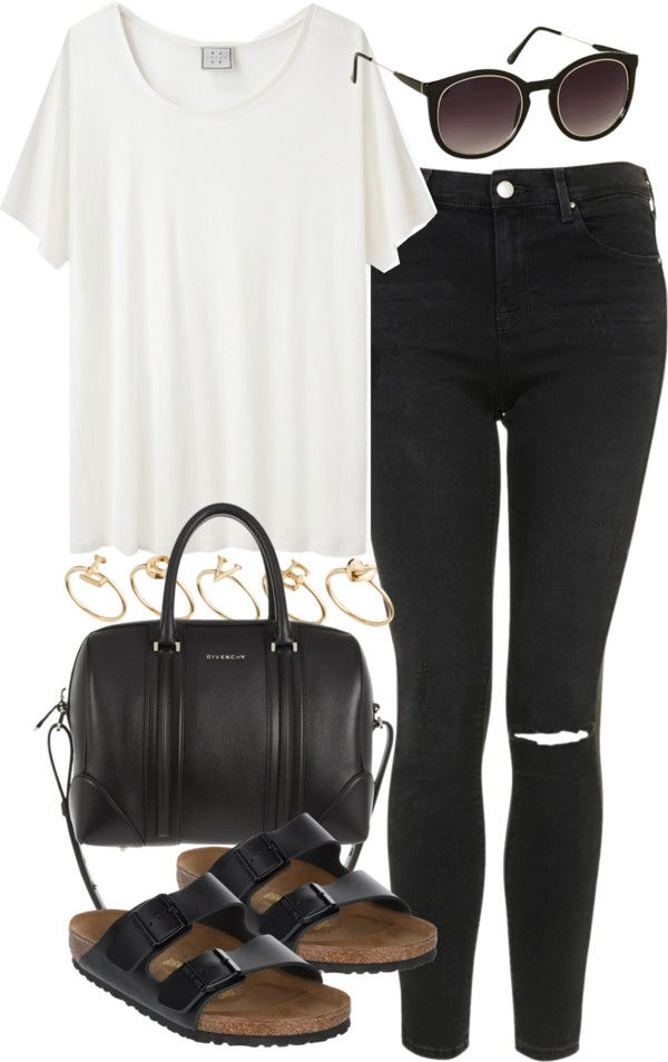 White and black outfit **