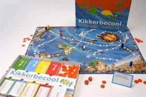 KIKKERBECOOL. Spannend bordspel waar je al spelend 4 vaardigheden leert, sociale vaardigheden, goede manieren, opkomen voor jezelf en omgaan met pesten en plagen.