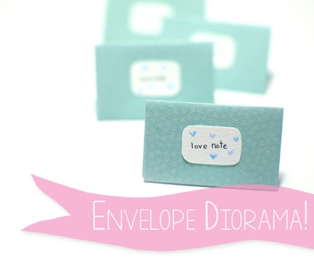 A tiny diorama all enclosed in a heart folded into the shape of an envelope. Tutorial: http://rhya.blogspot.ca/2016/01/envelope-diorama-tutorial-love-note.html  #envelopediorama #diorama #love #getcrafty #craft