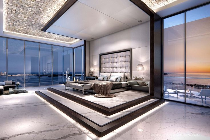 Under construction in Miami is Echo Brickell, a 60-story luxury condo development. Above, a rendering of a master bedroom.