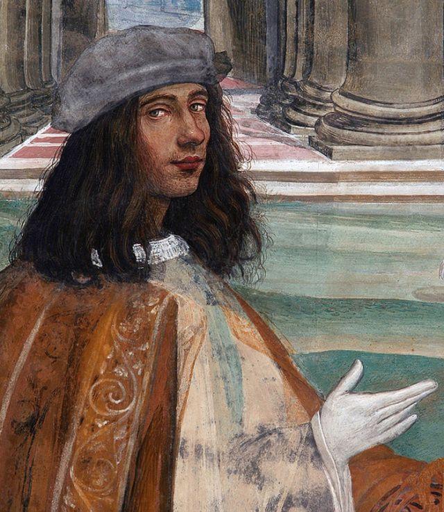 Sodoma, particolare di affresco nell'abbazia di Monte Oliveto Maggiore