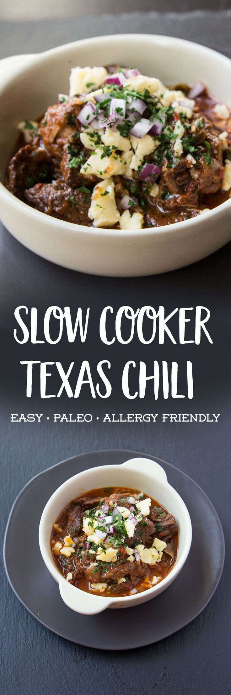 This slow cooker Texas chili is full of healthy grass fed meats, peppers, and…