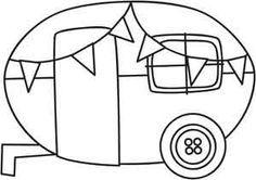vintage caravan applique - Google Search