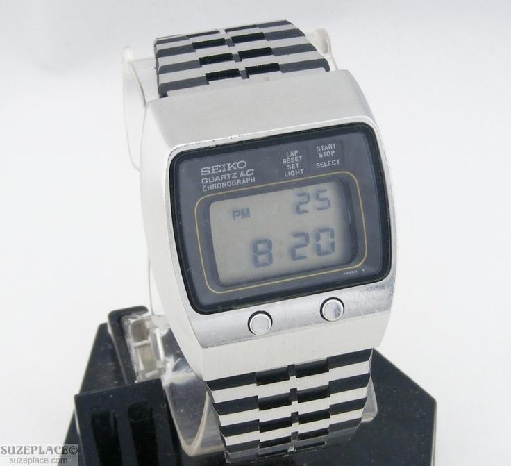 Vintage seiko digital watch 0634-5019 chronograph day date ...