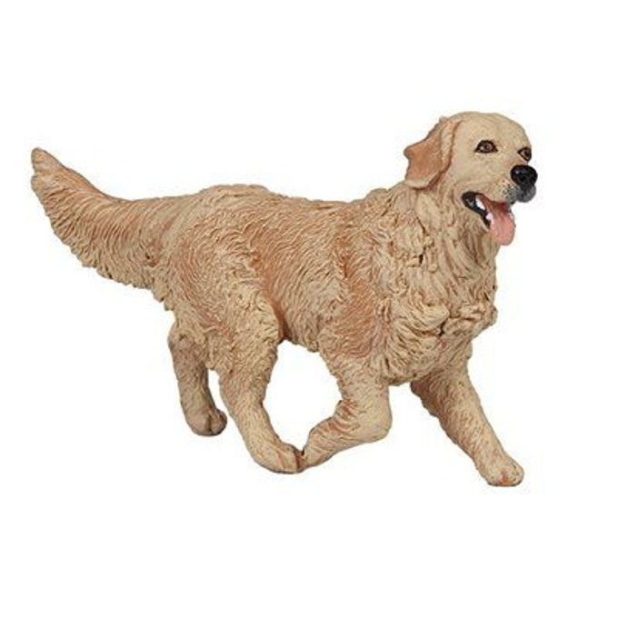 Figurine Chien Golden Retriever Taille Taille Unique Dogs