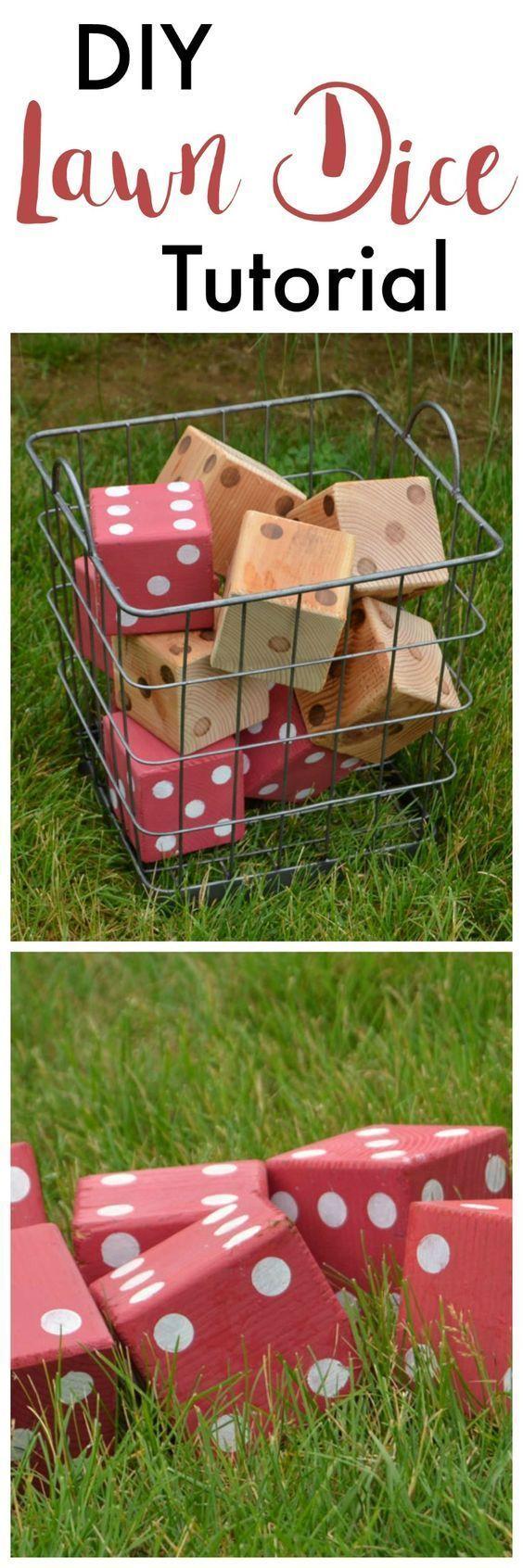 Charming Make Your Own Set Of Lawn Dice, Itu0027s Easy! Backyard GamesLawn GamesOutdoor  ...