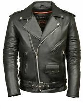 MILWAUKEE LEATHER Men's Classic Side Lace Police Style Motorcycle Jacket -XXL