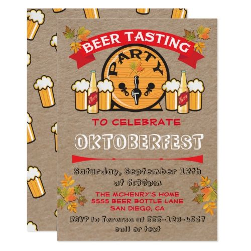 Bierprobe Oktoberfest Party Einladungen | Zazzle – CUSTOM PERSONALIZED Gift & Party Essentials