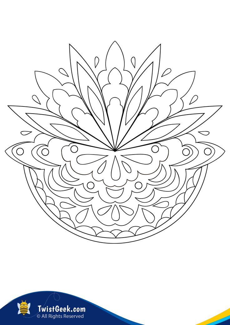 Free A4 Mandalas For Kids Coloring Pages - TwistGeek in ...