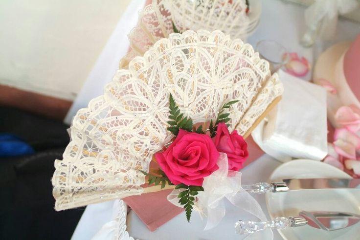 Spanish themed wedding bouquet.