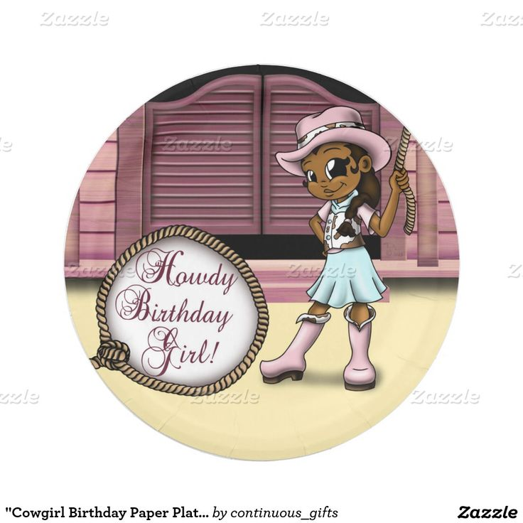 Cowgirl Birthday Paper Plates 7   sc 1 st  Pinterest & 1002 best CUSTOM PAPER PLATES Personalized For Parties images on ...