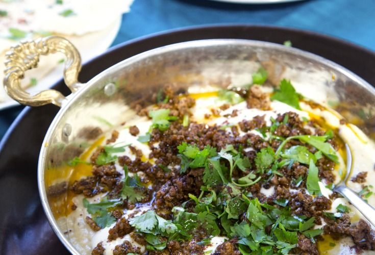 Ali Nazik (Smoky Eggplant Puree with Spiced Lamb and Yoghurt) - Nadia Lim's recipe