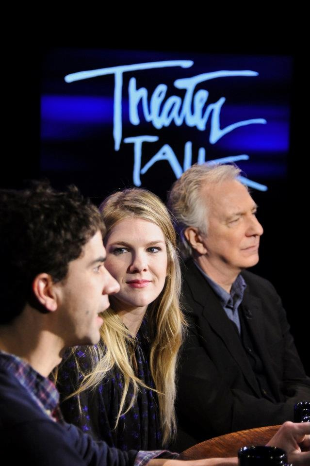 Good luck to Hamish Linklater, Lily Rabe and my boyfriend Alan Rickman  following the wrap of their run on Broadway today.