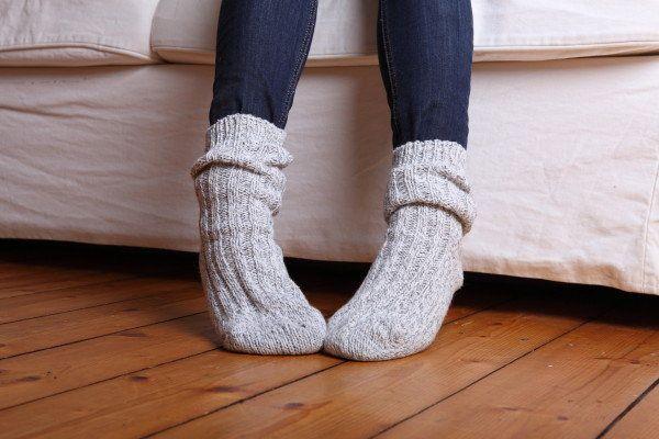 Strickanleitung Socken stricken ohne Ferse