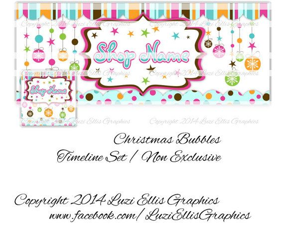 Christmas Bubbles Facebook Timeline Banner & by LuziEllisGraphics