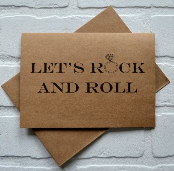 LETS ROCK AND ROLL - need we say more??!!! Probably not when asking your friends to be part of your big day. Ask your closest friends to be in your wedding with this funny bridal card! Printed on *kraft and comes with envelope. PRINTING =========== Outside: LETS ROCK AND ROLL Inside: WILL YOU BE MY BRIDESMAID? Listing includes 1 card with A7 envelope (5.25 x 7.25) These items are printed and are ready to be shipped!!!! If personalizing with a name or message other than groomsman, man of…