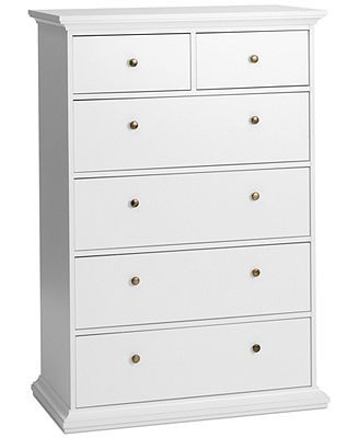 Amelie Ready To Emble 6 Drawer Chest Direct Ship Wonder If Tall White