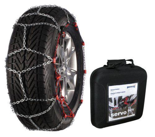 Pewag 37140 Chaine à Neige Servo SUV RSV 76: Ce modèle convient aux tailles de pneu suivantes: 195/80-16; 205/75-16; 215/65-16; 215/75-15…