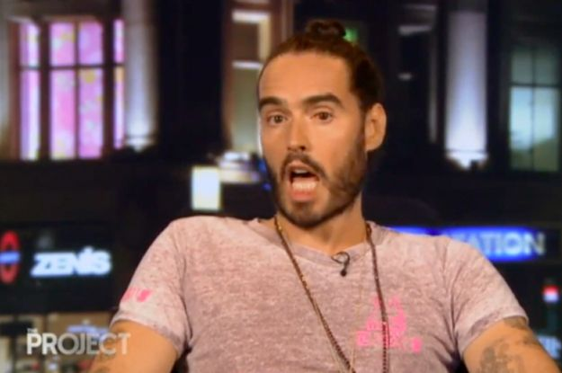 """When the panel showed Brand a clip of education minister Christopher Pyne's """"I'm a fixer"""" interview he fired back with his own impression. 