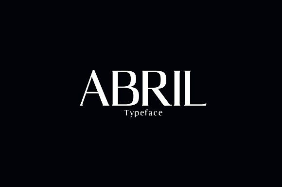Abril Serif Typeface by Symufa on @creativemarket