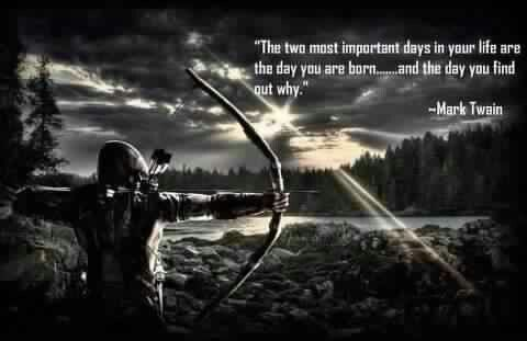 Archery with awesome quote.