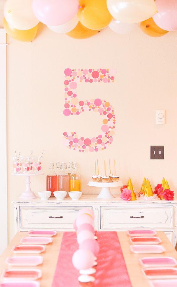 """a confetti dot """"5"""" backdrop {stevie pattyn for shop sweet lulu}"""