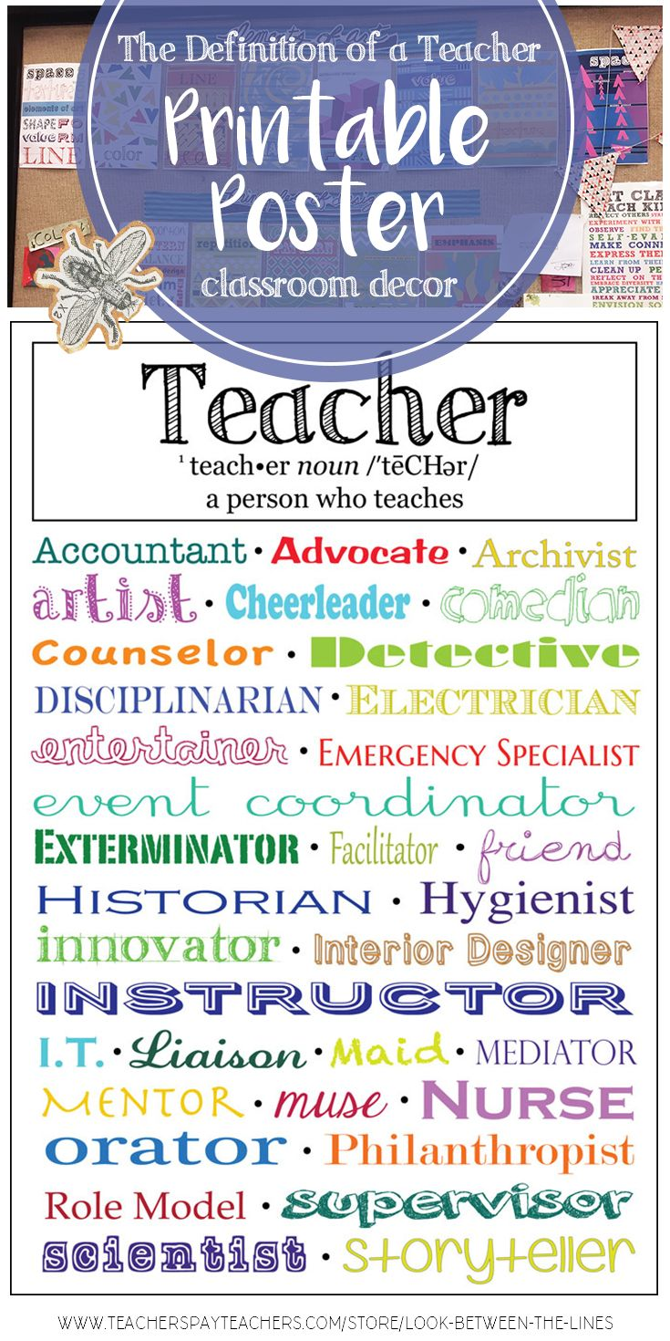 printable poster, modern classroom decoration: the definition of a