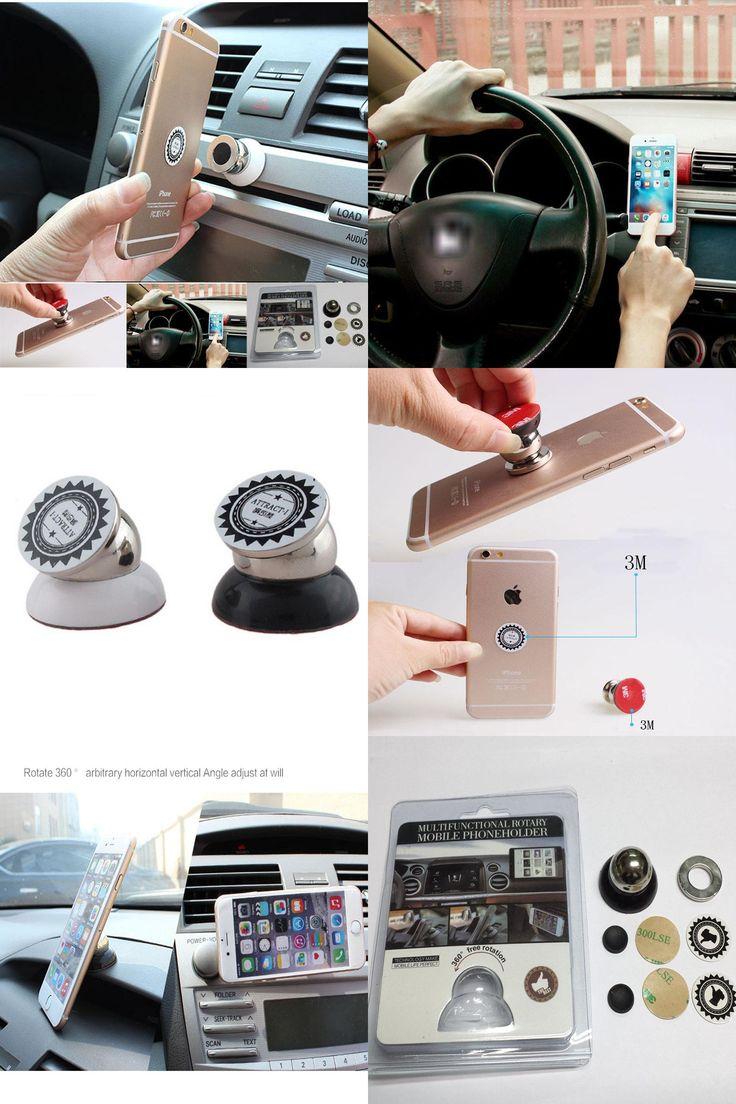 [Visit to Buy] Suporte celular magnetic car phone holder 360 degrees rotation holder For iPhone 7 plus 6s samsung GPS DVR mobile phone in car #Advertisement
