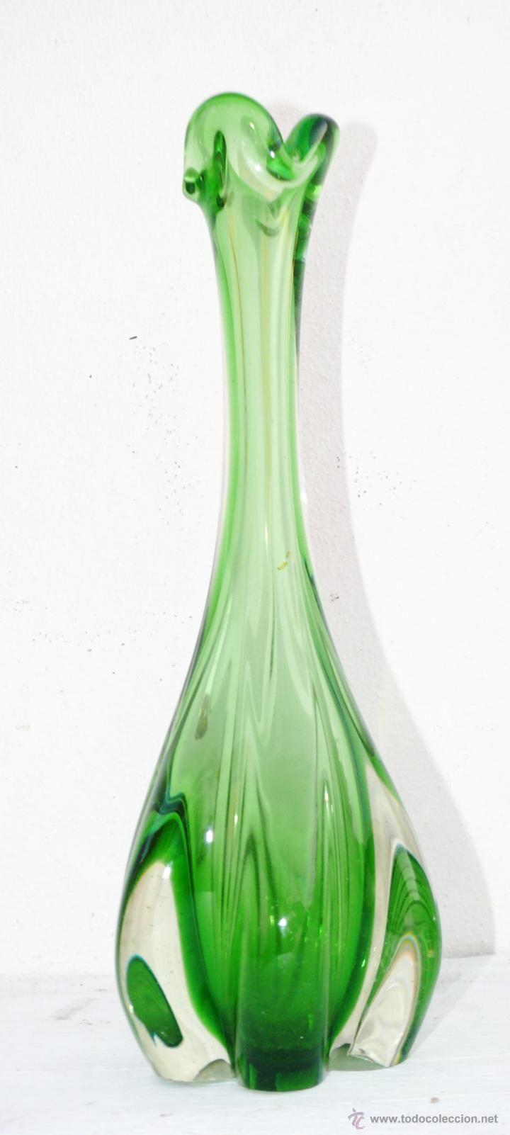 gran jarron xxl en cristal antiguo murano antigedades decoracin floreros antiguos