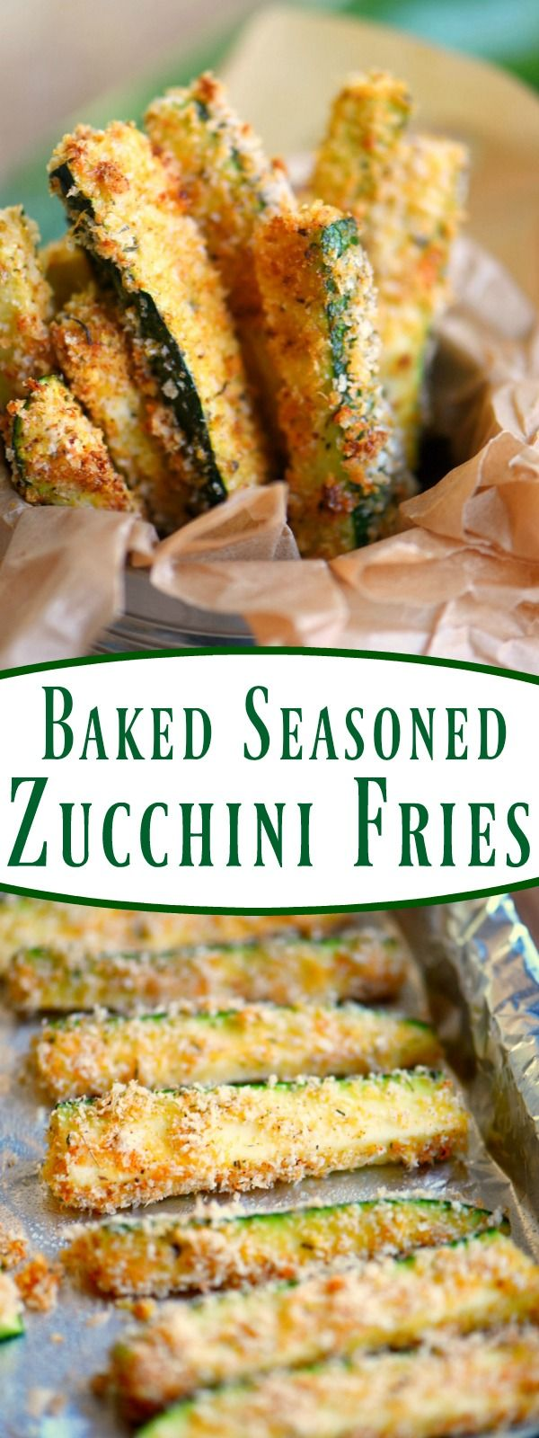 Your new favorite way to eat zucchini! These Baked Seasoned Zucchini Fries are loaded with flavor and baked to a golden crisp! Perfection!
