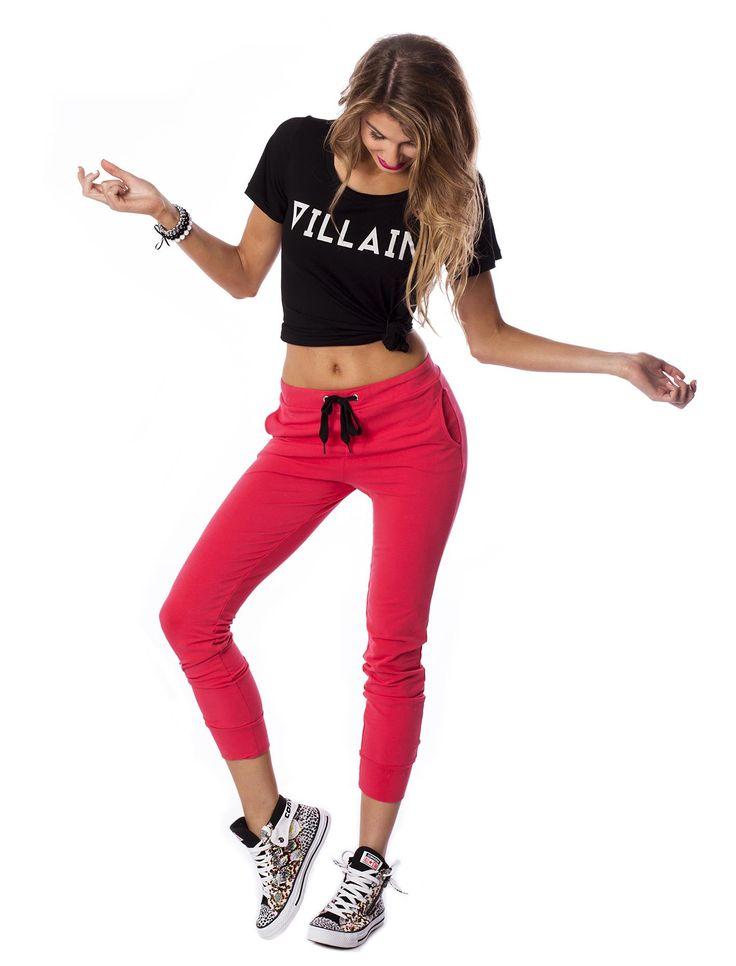 Raspberry Heat Pants #pants #red #design #raspberry #urbanwear #street #streetstyle #style #laidback #converse #sneakers