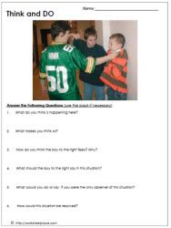Bullying Worksheet via Worksheetplace.com - great site for therapy worksheets