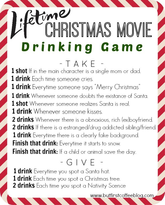 christmas drinking card games