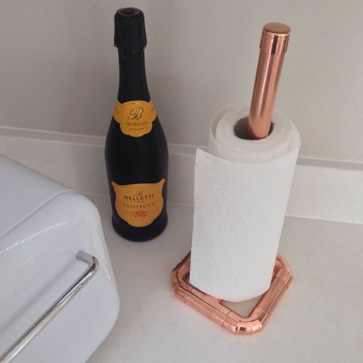 Copper kitchen roll holder, paper towel holder, contemporary by CopperandBlonde on Etsy https://www.etsy.com/uk/listing/514168694/copper-kitchen-roll-holder-paper-towel