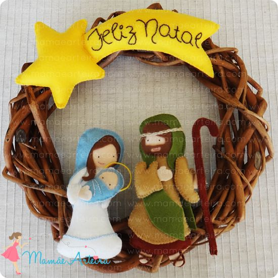 Projetinho de Natal =) #mamaearteira #feltro #felt #nativity