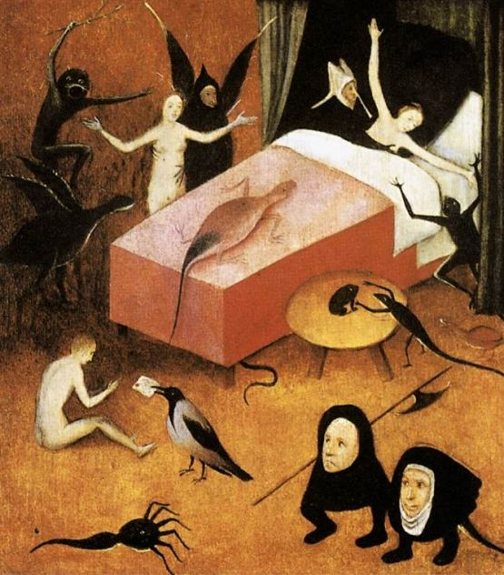 Detail from Bosch's The Last Judgement: The Dying Whore.