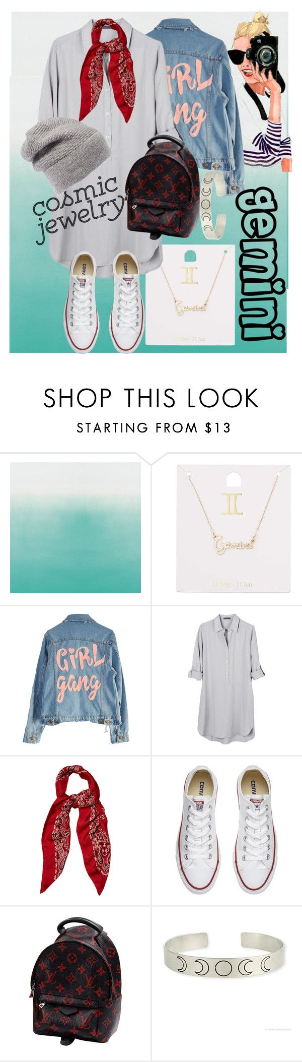 """""""gemini"""" by isabella-guran ❤ liked on Polyvore featuring Miss Selfridge, High Heels Suicide, United by Blue, Yves Saint Laurent, Converse, Louis Vuitton, Rebecca Minkoff and cosmicjewelry"""