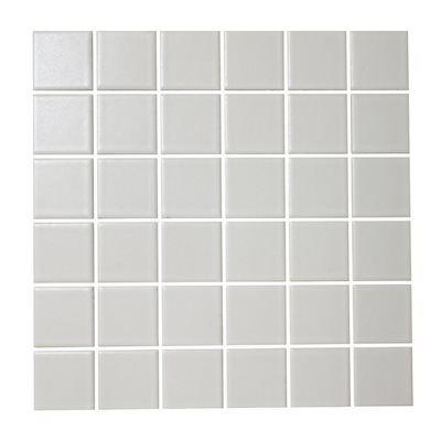 American Olean 12-in x 12-in Satinglo White Glazed Porcelain Wall Tile  2x 2White porcelain tiles mounted on 12-insheetsPlease inspect tile prior