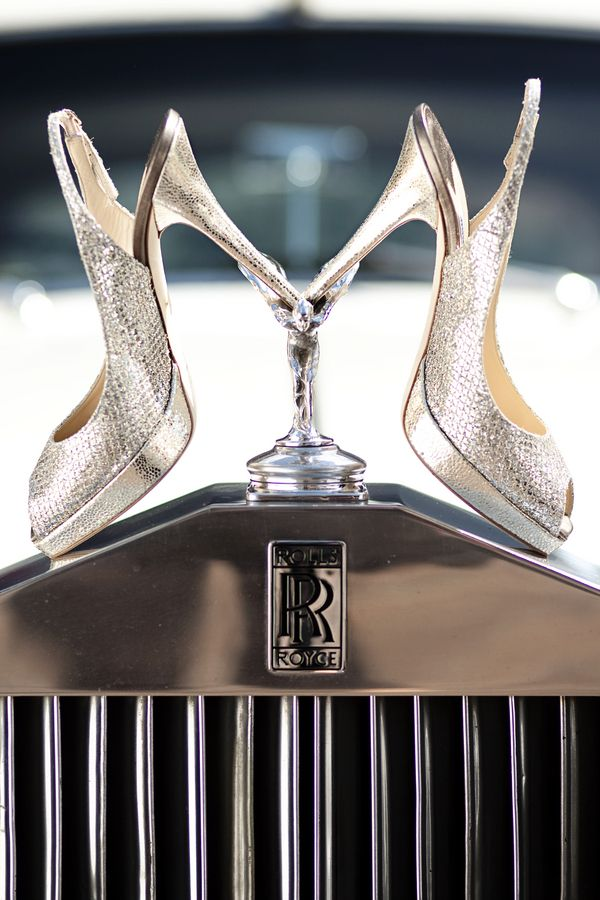 Jimmy Choos and Rolls Royce- My two loves, shoes and cars.