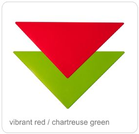 vibrant red chartreuse green top