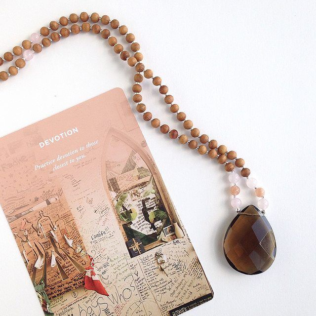 You are immersed in love in all of its forms. The Beloved Mama Mala supports all aspects of love flowing through your life and, most importantly, is a reminder to take the time to love yourself.