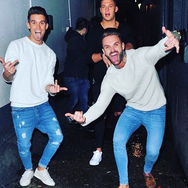 Sick pic of @gazgshore and @aaroncgshore in our Light Blue Ripped & Repaired and None Ripped Jeans get yours at heralondon.com #geordieshore #heralondon