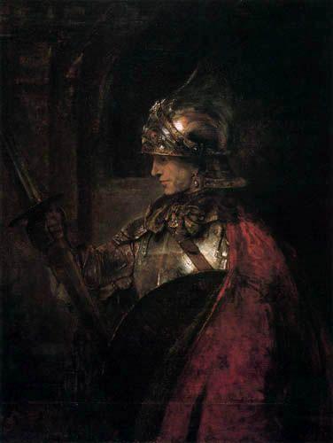 Hermansz. van Rijn Rembrandt - Un guerrero en su armamento