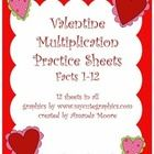 This is a set of 12 multiplication sheets:  one sheet for each fact.  These are great for homework, practice, or review.  All graphics are from www...