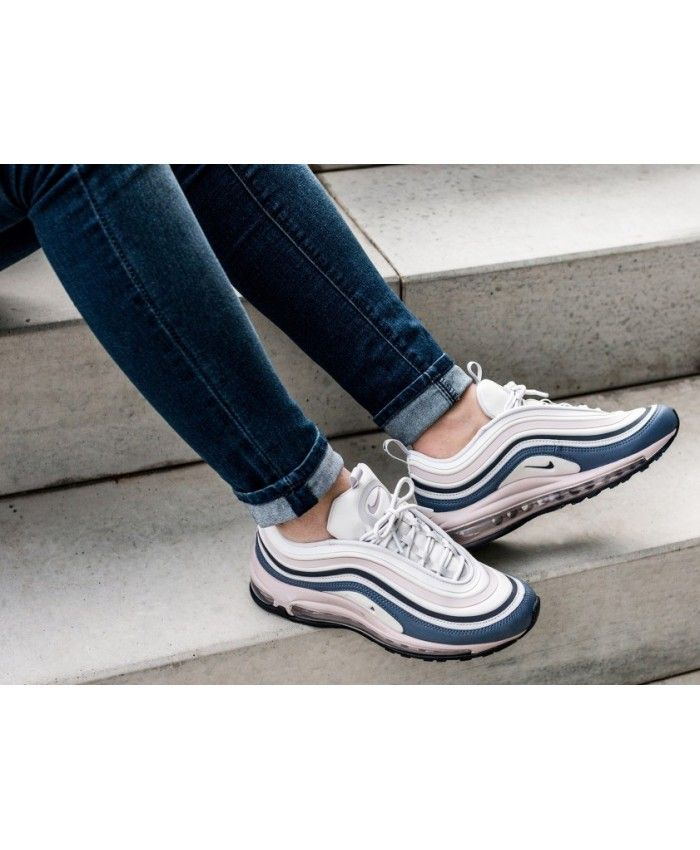 Women s Nike Air Max 97 Ultra 17 Vast Grey Obsidian Particle Rose  Trainer,Fashion sneakers d68543422