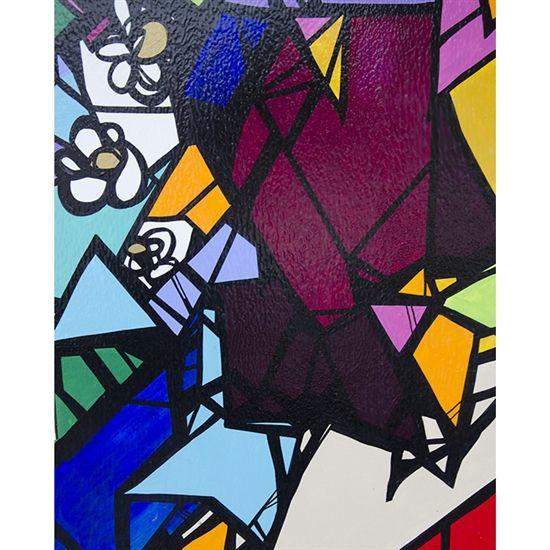 Colorful Mosaic Printed Backdrop