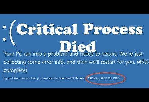 Critical Process Died Loop | Fix Stop Code in Windows 10