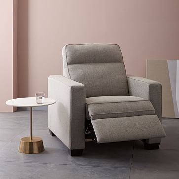 Not sure if it inclines far enough forward for my tastes but very comfortable! | Henry Power Recliner Chair #westelm