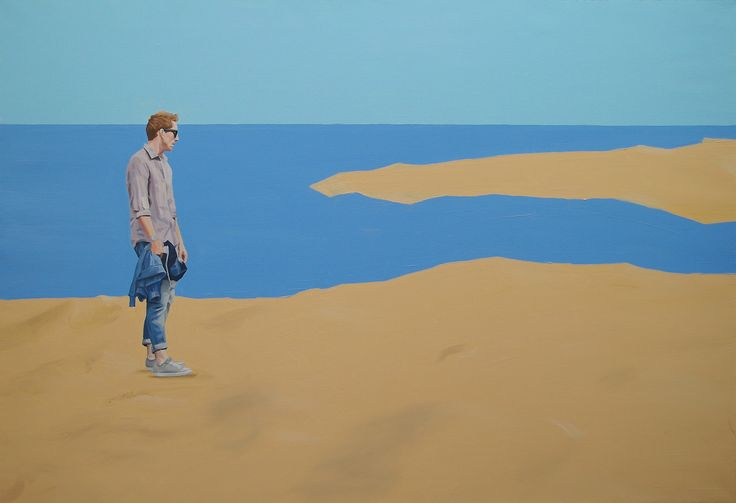 see the sea, oil on canvas,89.4×130.3cm, 2012